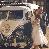 Mr and Mrs Hamilton-Glover on their wedding day