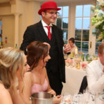 Austine & Michael with Danny The Red Hat Wedding Magician