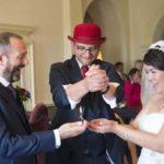 Bride and Groom enjoying Wedding Magic