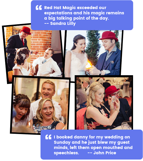 The UK's favourite Wedding Magician, Red Hat Magic